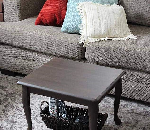 End Table Upcycled as Small space coffee table | Stowandtellu.com