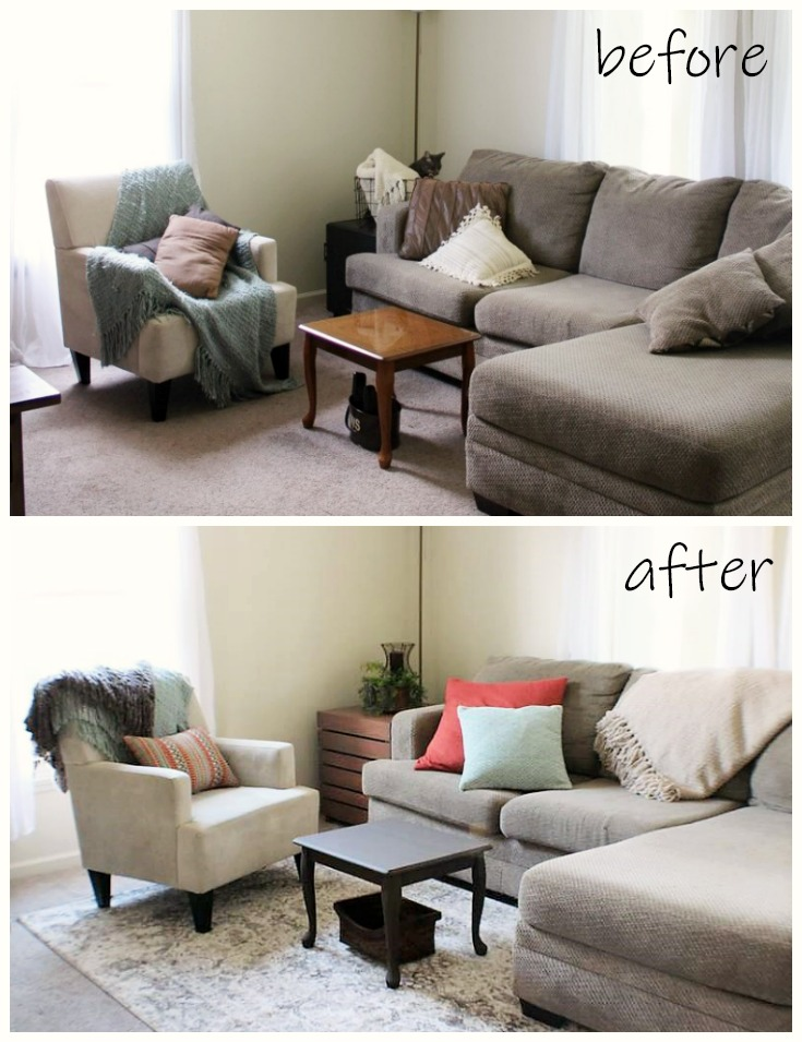 Before And After Decorating With Area Rugs Stow Tellu