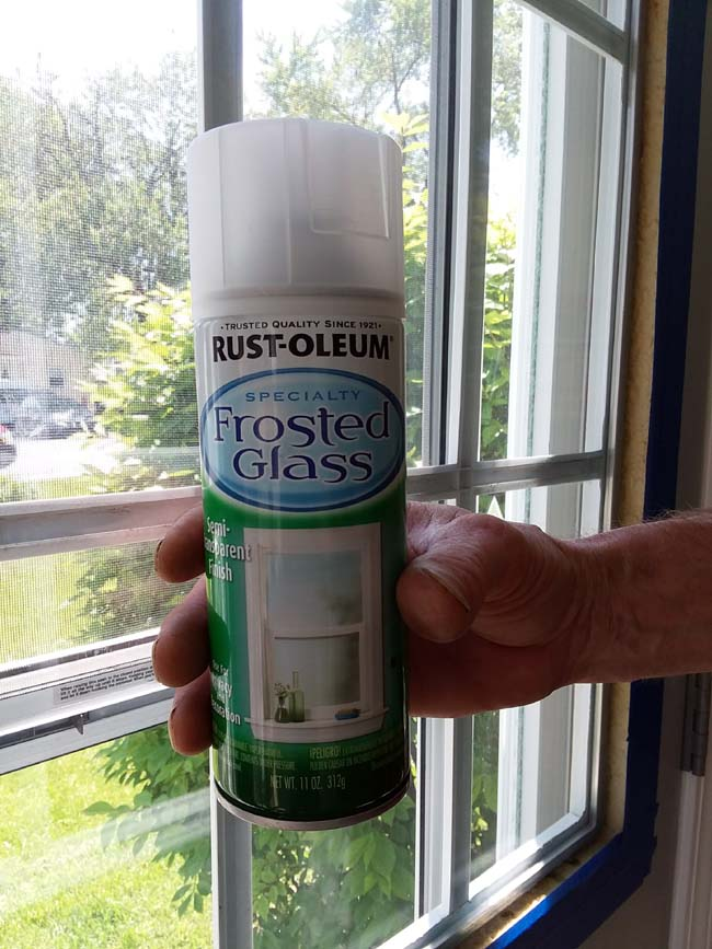Frosted Glass Paint   10 Tips to Painting Grid Doors and Frosting the Glass Windows