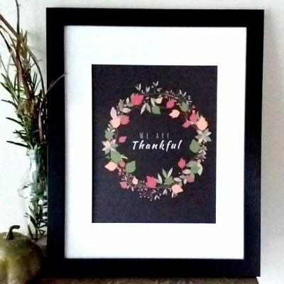 Free Thanksgiving Wreath Printable | stowandtellu.com