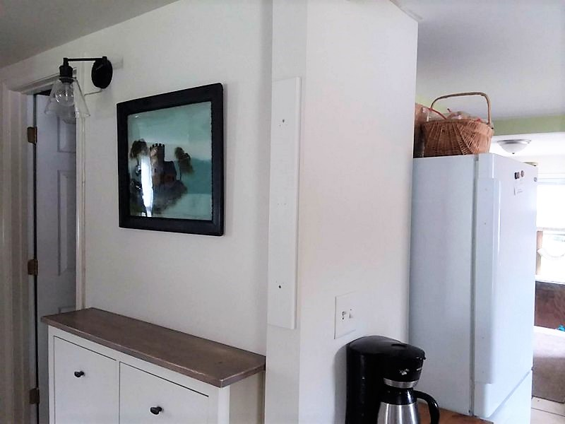 Mount Vertical Wood Rack to Wall