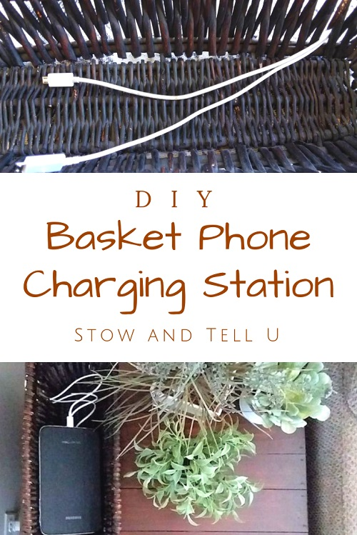 DIY Basket Phone Charging Station