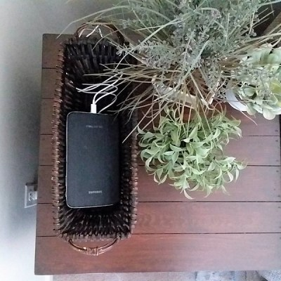 Simple DIY Charging Station Basket