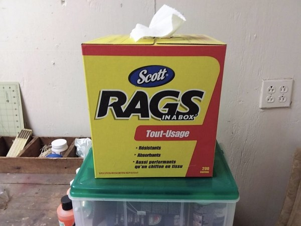 Box of Lint Free Rags | Basic tools needed for applying gel stain