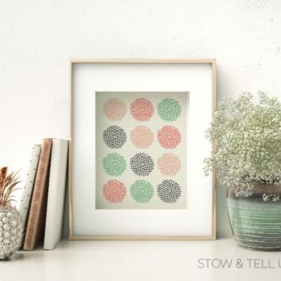 Free Spring Inspired Modern Floral Artwork Printable Set