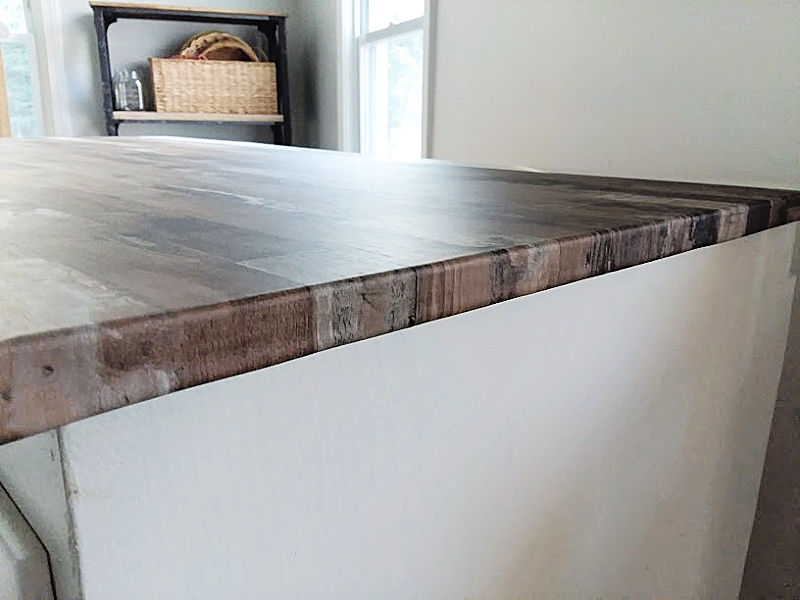 Removable Wallpaper Faux Wood Countertop