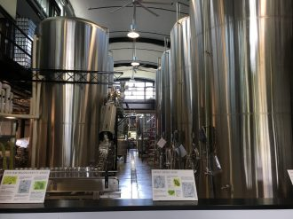 September 15, 2017 - Brew works at The Alchemist Brewery in Stowe, Vermont