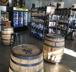 November 11, 2017 - Home-brew store at 1st Republic Brewing in Essex, Vermont