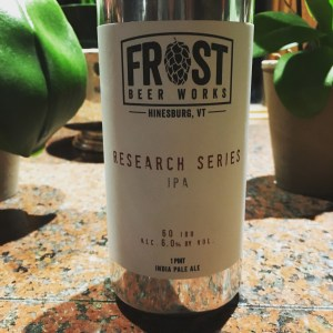 Frost Beer Works Research Series IPA