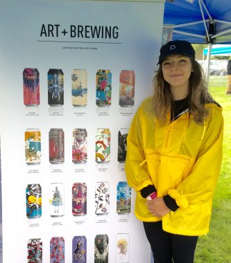 May 19, 2018 - Mae Sullivan of Collective Arts and Brewing at the Craft Brew Races in Stowe, Vermont