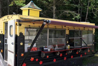 July 5, 2018 - Food truck at Kingdom Brewing in Newport, Vermont