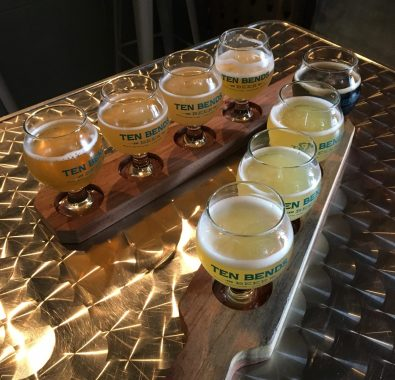 June 30, 2018 - Samples at Ten Bends Beer in Hyde Park, Vermont