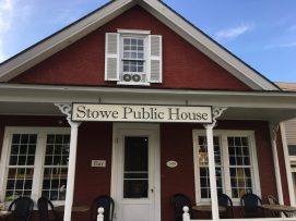 August 25, 2018 - Bar at Stowe Public House and Bottle Shop in Stowe, Vermont