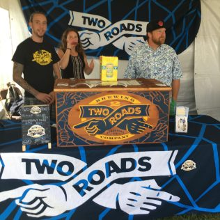 August 4, 2018 - Two Roads Brewing at Stowe Brewers Festival in Stowe, Vermont