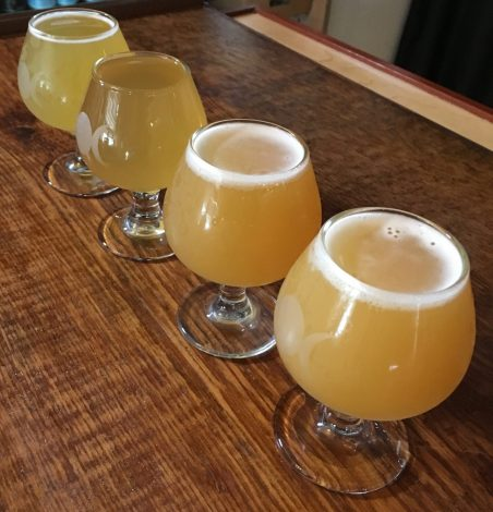 July 28, 2018 - Samples at Four Quarters Brewing in Winooski, Vermont