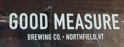 September 2, 2018 - Good Measure Brewing in Northfield, Vermont