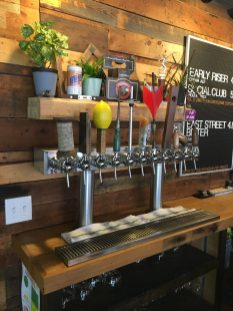 September 2, 2018 - The taps at Good Measure Brewing in Northfield, Vermont