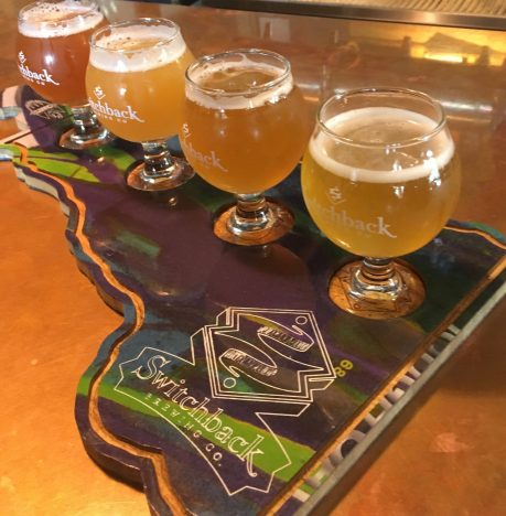 October 13, 2018 - Samples at Switchback Brewing Company in Burlington, Vermont