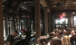 November 1, 2018 - Bar scene at Trillium Brewing Company in Boston, Massachusetts