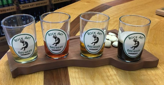 December 1, 2018 - Samples at Rock Art Brewery in Morrisviile, Vermont