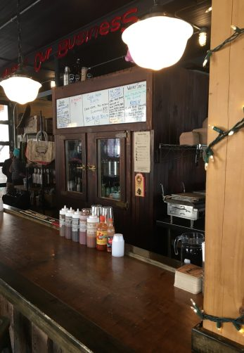 December 8, 2018 - Bar at Prohibition Pig Brewery in Waterbury, Vermont