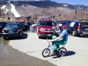Jason Knecht on one of his many bikes