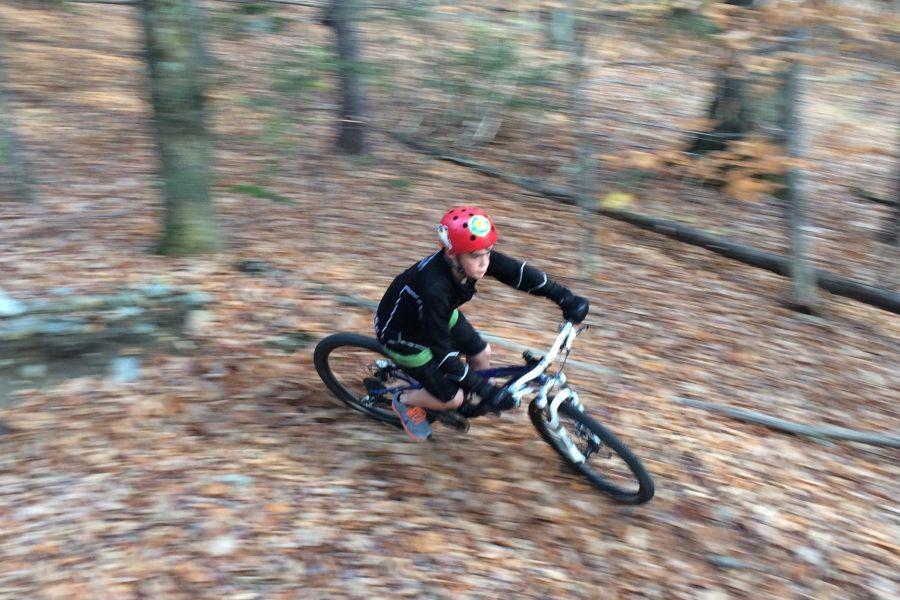 Kaiden McNeil flyin' through the trees
