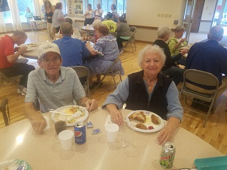 Dale and Marlene Holderman at the 2017 annual picnic.