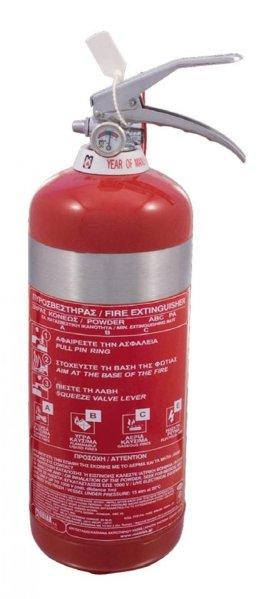Πυροσβεστήρας ξηράς κόνεως 2kg, INOX