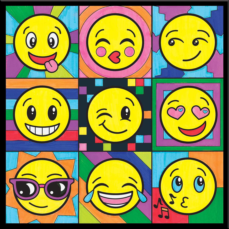 Color By Number Emoji Pop Art