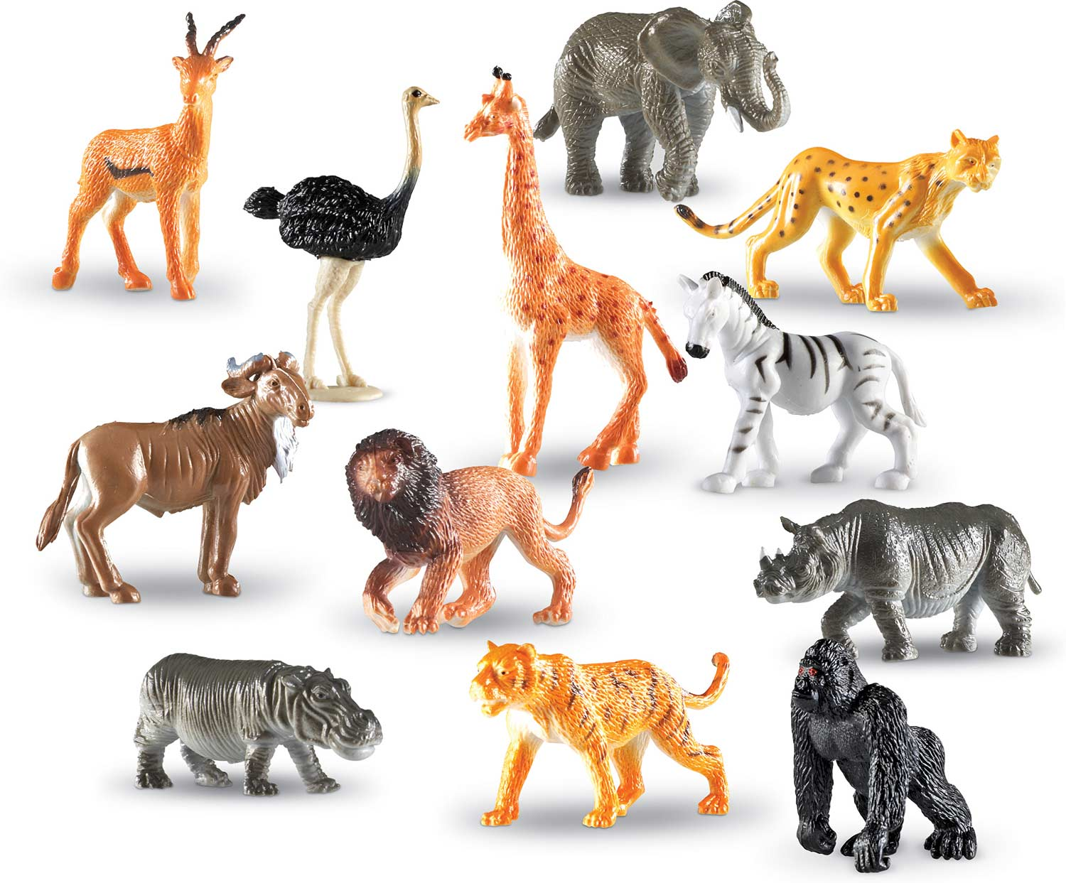 Jungle Animals Counters Set Of 60