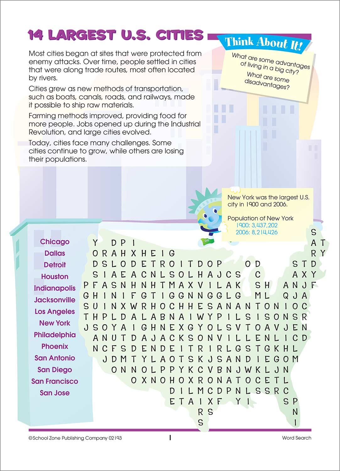 Word Search People Amp Places Activity Zone Workbook