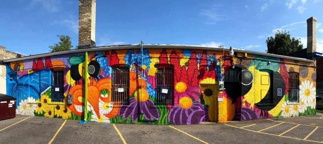 Wet Paint mural