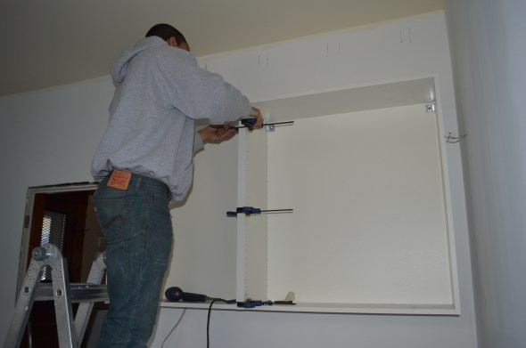 attaching ikea cabinets together