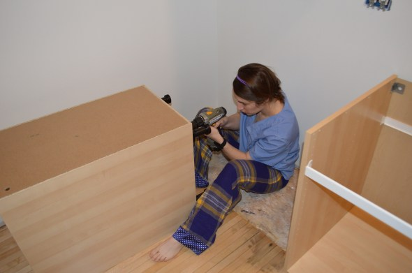 installing feet on ikea cabinets