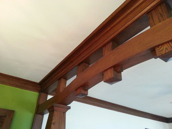 craftsman style room separater