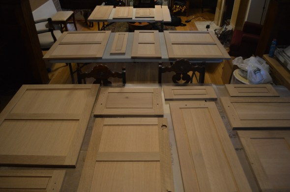 Square sawn white oak doors unfinished