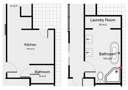 bathroom floorplan
