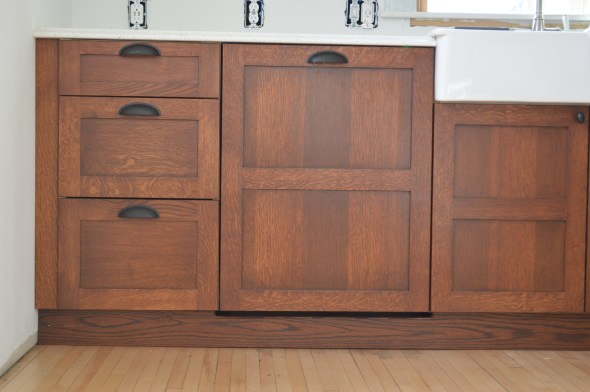 craftsman kitchen white oak cabinets