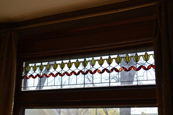 stained and leaded glass window