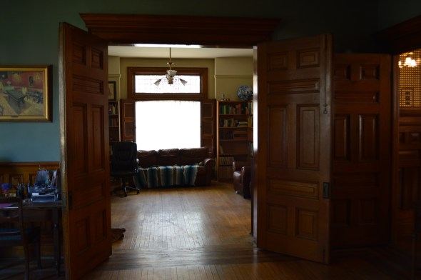 huge french solid wood doors