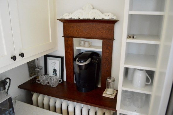 Built-in Keurig cabinet
