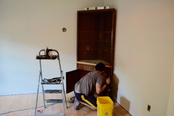 installing built-in cabinets