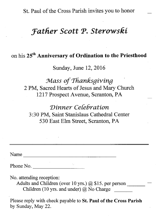 Father Scott Ordination Anniversary