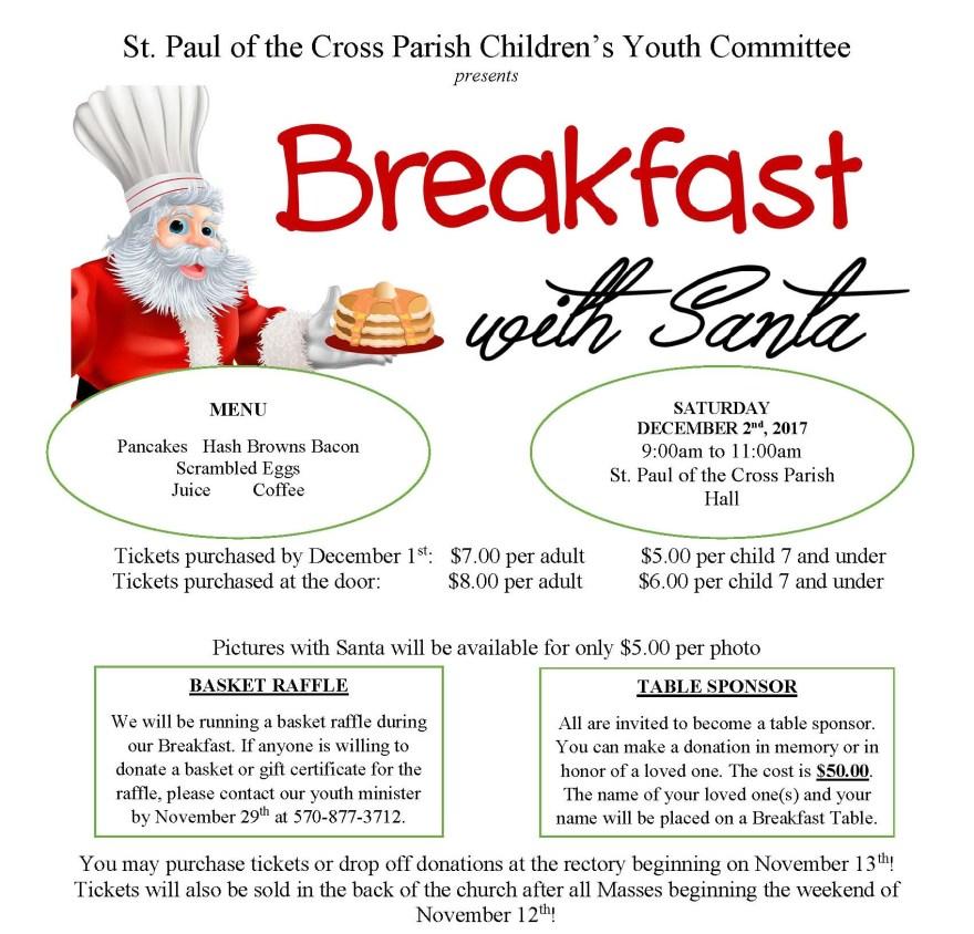 Breakfast with Santa Flyer 2017