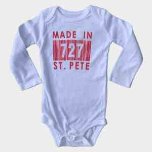 Infant Red Sleeves Made In 727 St. Pete