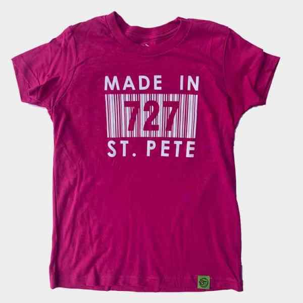 Kid's Maroon Made In 727 St. Pete