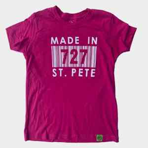 Kid's Maroon Made In 727 St. Pete