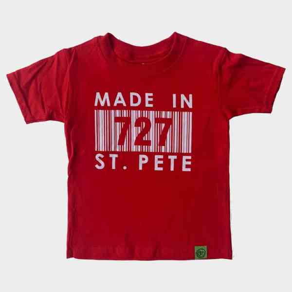 Kid's Red Made In 727 St. Pete