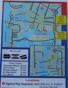 Map   Directions   St Pete Dolphin Snorkeling Tour Map for directions Egmont Key Snorkeling Boat Tour 4630 29th Avenue South   Gulfport  FL 33711